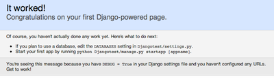 welcome to django